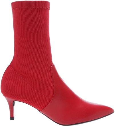 [PRÉ VENDA] Skinny Boot Tecido Gorgurão Royal Red