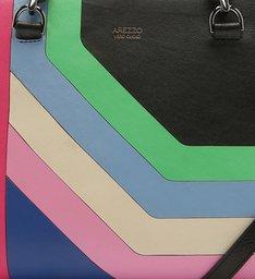 Bolsa Tote Couro Carmem Grande Multicolorida