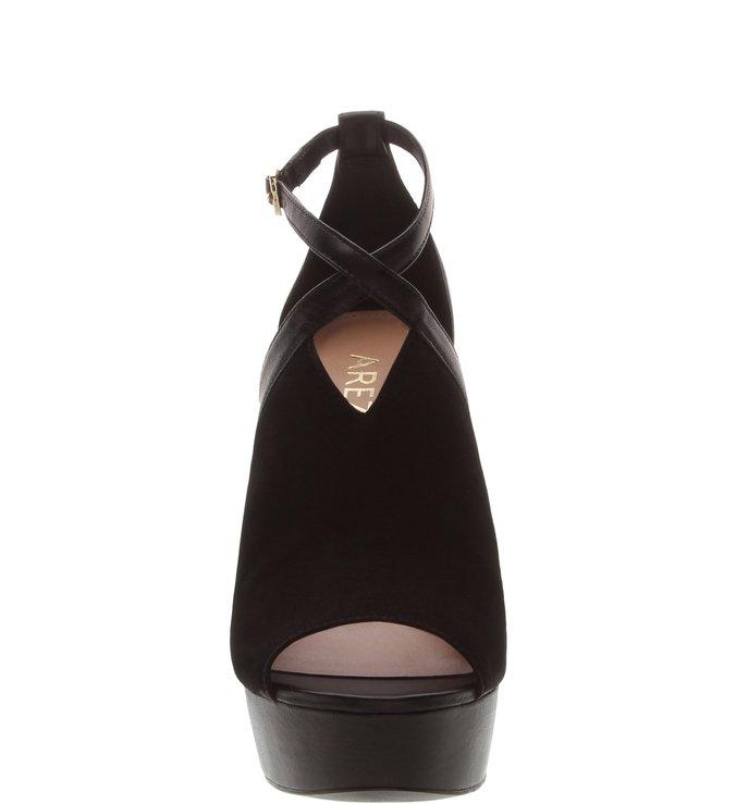 [PRÉ VENDA] Sandal Boot Nobuck e Couro Meia Pata Preta