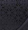 Tiracolo Floral Laser Preta
