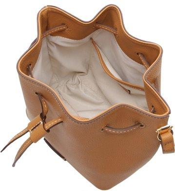 Bolsa Tiracolo Bucket Angelica Média Camel