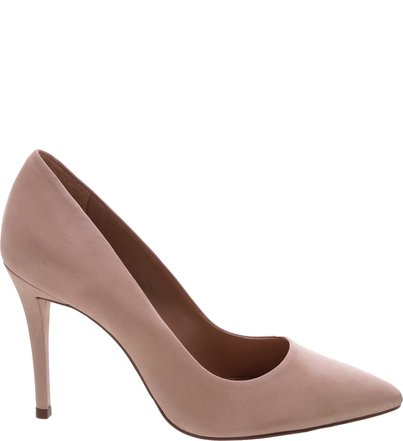 fc1da06da6 Scarpin Nobuck Salto Fino Light Cream