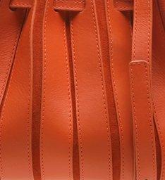 Bolsa Bucket Pequena  Couro Parioli Hot Orange