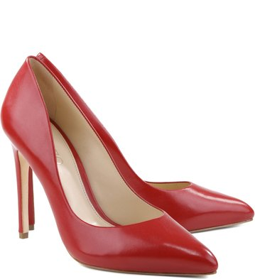 Scarpin Couro Spicy Red