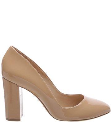 e2cccb1f95 Sapato Clássico Salto Alto Verniz Nude Vintage