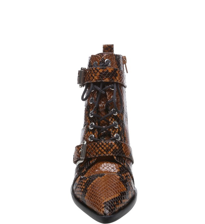 Ankle Boot Snake Cadarço e Fivela Terrosos