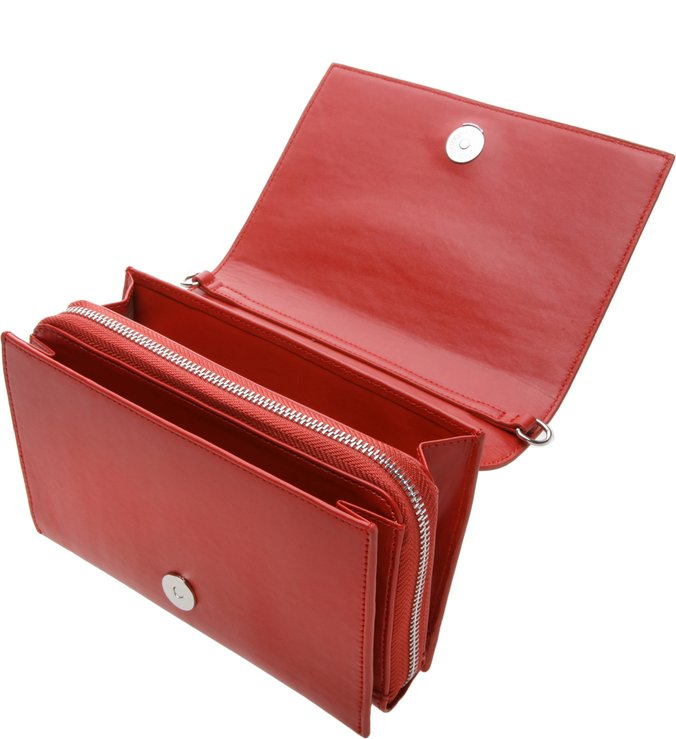 Bolsa Pequena Estruturada Royal Red