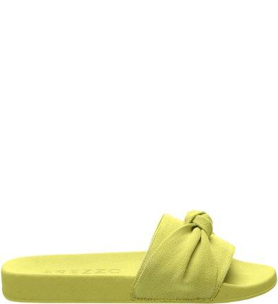 4a31957e5a Sandália Tecido Salto Rasteiro Lime