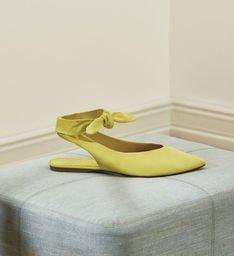 Sapatilha Nobuck Minha Nina Flat Full Yellow