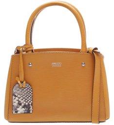 Bolsa Tote Couro Pequena Amber Yellow
