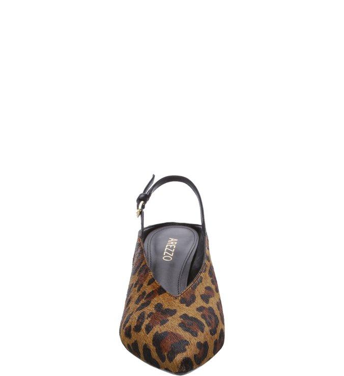 Scarpin Animal Print Leopardo Gáspea Salto Bloco