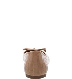 Sapatilha Croco Tiny Bow Soft Avelã