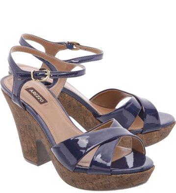 Sandália Plataforma Night Blue