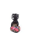 Sapatilha Lace Up Floral Negro