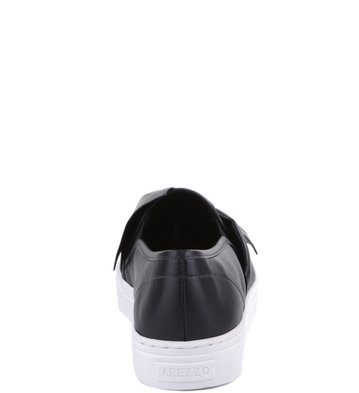 Slip-on Enlaçado Preto