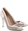 Scarpin Tramado Multi Off-White