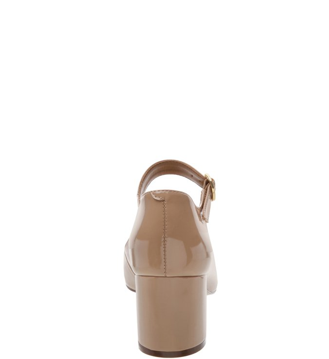 Sapato Boneca Verniz Médio Nude Crema
