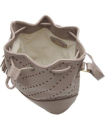 Bolsa Bucket Puntino Grigio