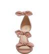 Sandália Nobuck Salto Médio Tiny Bow Rose Blush
