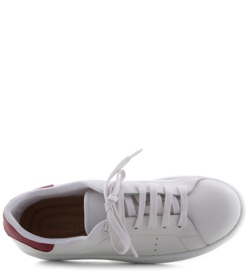 Tenis Branco Detalhe Vermelho