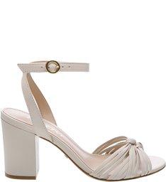 Sandália Couro Thin Off White