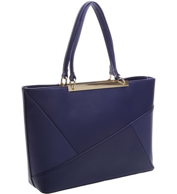 Bolsa Shopping Patchwork Navy