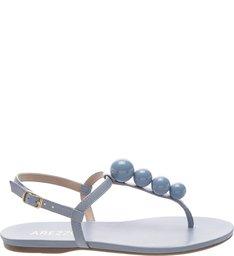 Sandália Rasteira Esferas Azul