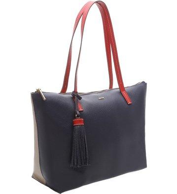 Bolsa Shopping Couro Giornata Bicolor Galaxy Blue