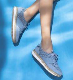 Tênis Couro ZZ Pool Vintage Blue