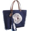 Bolsa Shopping Priscila Bordada Jeans