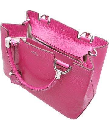 Bolsa Couro Tote Abraccio Lady pink