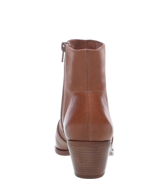 Ankle Boot Couro West Brown