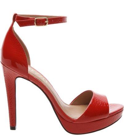 Sandália Plataforma Verniz Alta Red