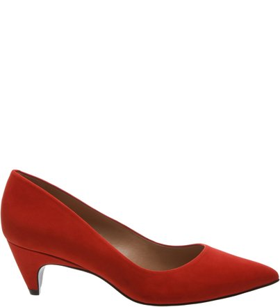 Scarpin Salto Baixo Nobuck Royal Red