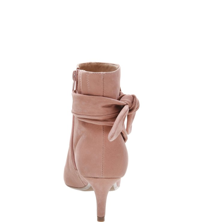 Ankle Boot Nobuck Lace Up Smoke Rose