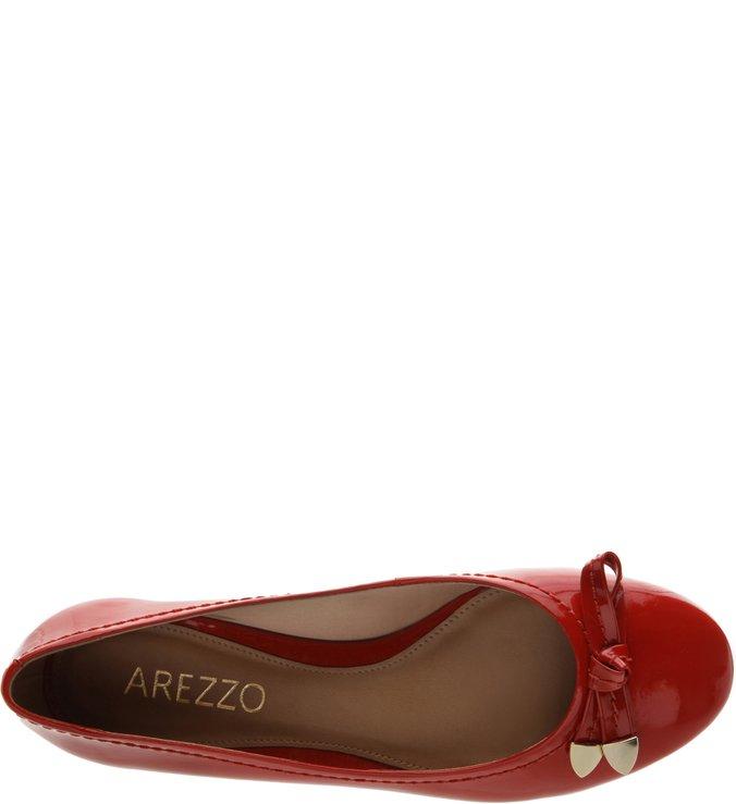 Sapatilha Verniz Ponteira Royal Red