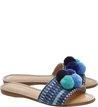 Rasteira Pompom Azul