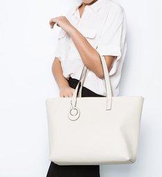 Bolsa Shopping Per Tutti Grande Off White