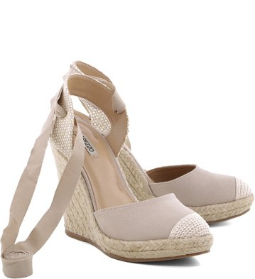 Espadrillle Lace Up Lona Dust