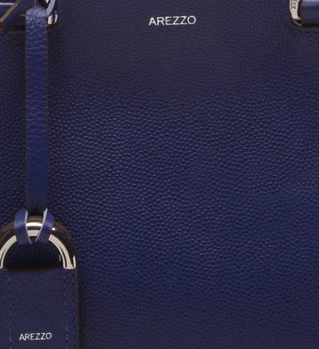 Bolsa Tote Couro Abraccio Digital Blue