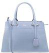 Bolsa Couro Tote Grande Affeto Charm Crystal Blue