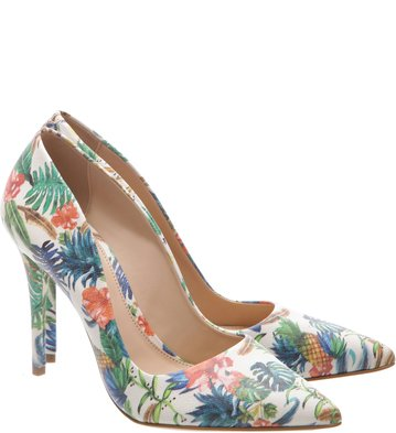 Scarpin Tropical Multicolorido