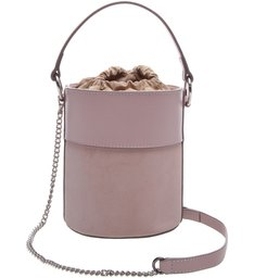 Bolsa Couro Bucket Pequena Nina Peony