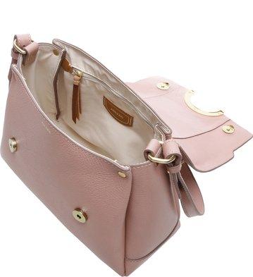 Bolsa Couro Lady Satchel Giardino Rose Blush