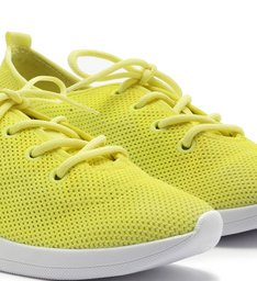 Tênis Knit Cadarço Neon Lime