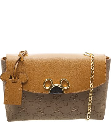 Disney x Arezzo | Bolsa Lady Satchel Jacquard Scotch