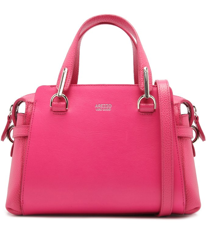 Bolsa Tote Couro Carmem Média Pink Absolut